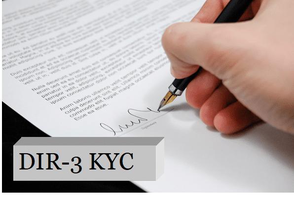 DIR-3 KYC NOTIFICATION - Registration Arena   Company