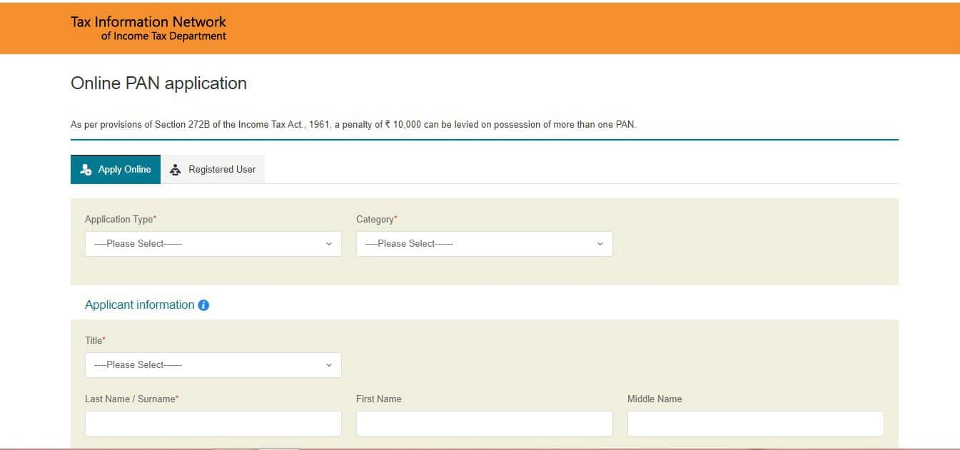 How to apply for PAN card online - NSDL