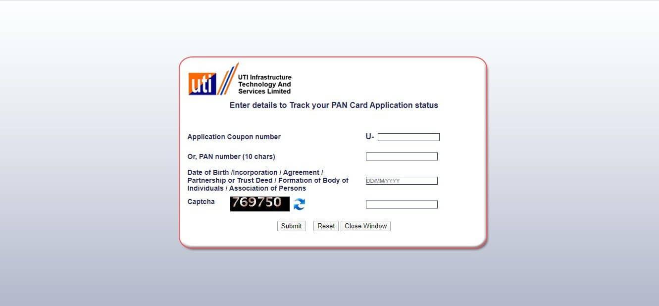 How to check PAN card status - UTIITSL