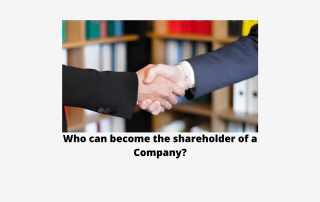 Who can become the shareholder of a company?