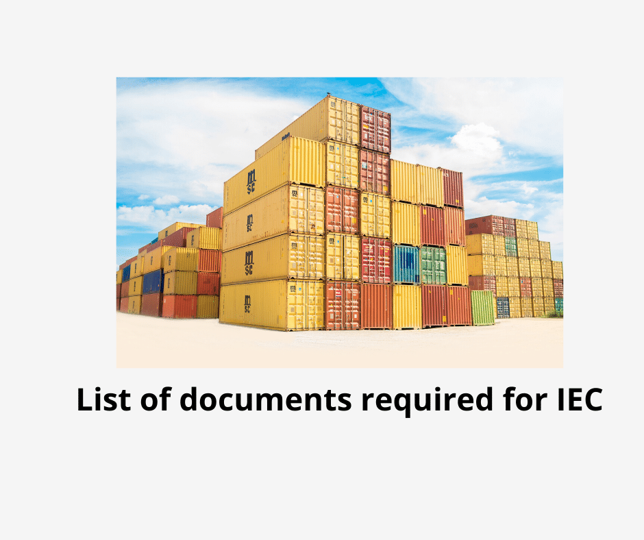 List of documents required for IEC