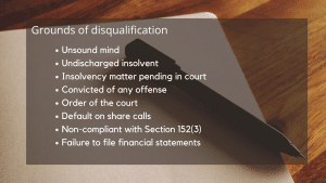 Disqualification of a director